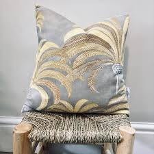 """PALM TREE Beige Exotic 18"""" Cushion Cover"""