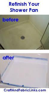 refinish your fiberglass shower pan to look new again