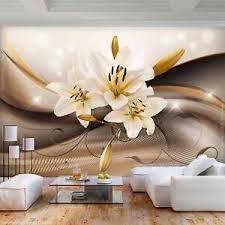 details zu vlies fototapete blumen abstrakt lilien tapete wandbilder wohnzimmer 052