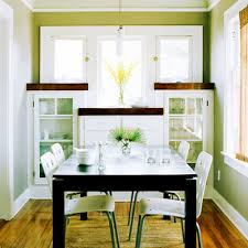 White Lighting Decorate Small Dining Room Very Adorable Wooden Lacquired Oak Teak Varnished High Quality