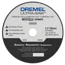 Dremel Tile Cutting Kit by Dremel Ultra Saw 3 5 In Masonry Cutting Wheel For Stone Slate
