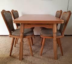 tisch und 4 stühle massivholz esstisch esszimmer essecke küche