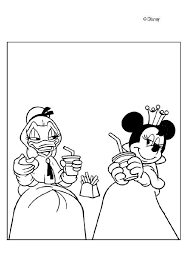 Princesses Daisy Duck And Minnie Mouse Coloring Page