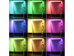 led glass edge lighting kit 4pcs rgb led glass shelf lights rgb