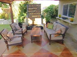 Staining A Concrete Floor | HGTV Patio Ideas Concrete Designs Nz Backyard Pating A Concrete Patio Slab Design And Resurface Driveway Cement Back Garden Deck How To Fix Crack In Your Home Repairs You Can Sketball On Well Done Basketball Best 25 Backyard Ideas Pinterest Lighting Diy Exterior Traditional Pour Slab Floor With Wicker Adding Firepit Next Back Google Search Landscaping Sted 28 Images Slabs Sandstone Paving