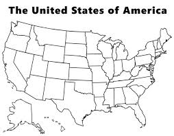 Map Of The USA Coloring Page