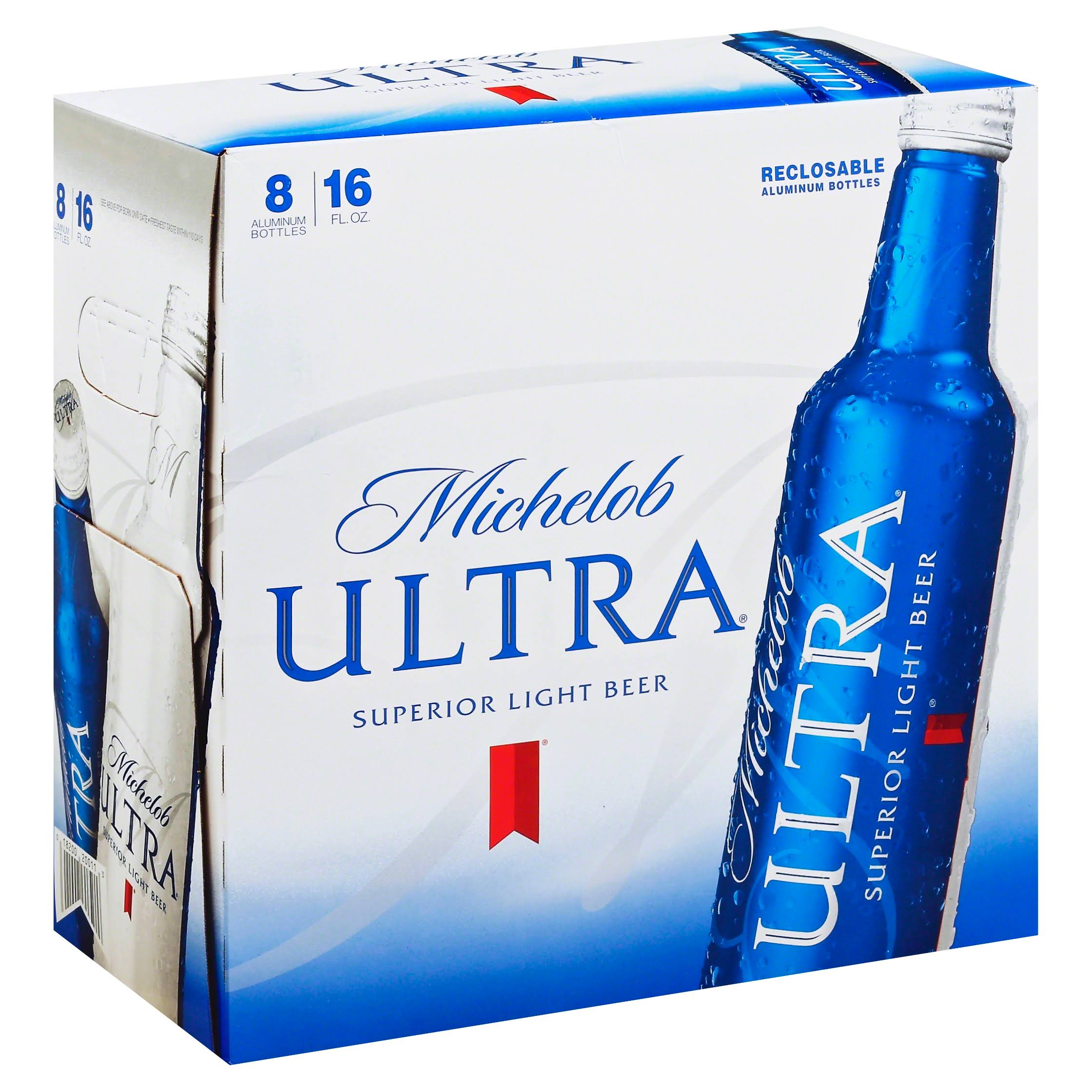 Michelob Ultra Superior Light Beer - 16 fl oz, x8