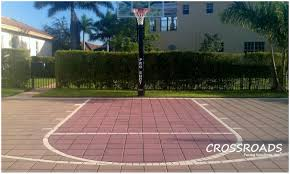Backyards : Fascinating Paver Basketball Court Yard Decor Ideas ... Outdoor Courts For Sport Backyard Basketball Court Gym Floors 6 Reasons To Install A Synlawn Design Enchanting Flooring Backyards Winsome Surfaces And Paint 50 Quecasita Download Cost Garden Splendid A 123 Installation Large Patio Turned System Photo Album Fascating Paver Yard Decor Ideas Building The At The American Center Youtube With Images On And Commercial Facilities