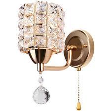 moderne wandleuchte kristall wandle eleganter stil kreative zylinder wandleuchte für wohnzimmer esszimmer schlafzimmer gold