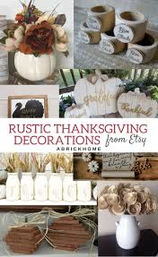 A Brick Home Rustic Thanksgiving Decorations For Table