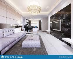 eingebautes fernsehen auf der wand im luxuriösen wohnzimmer