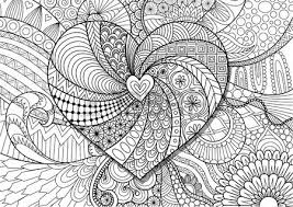 Hearted Shape On Floral Background For Adult Coloring Book Page Vector