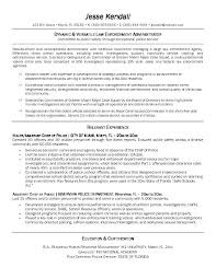Law Enforcement Cover Letters Letter Police Officer Military Experience Entry Level Sample Promotion