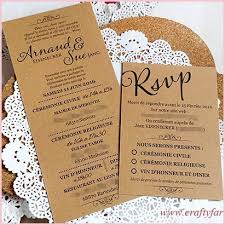 Rsvp For Wedding Invitations Warm Rustic French Invitation Card With