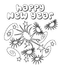 Coloring Pages Of New Year Years Free Printable