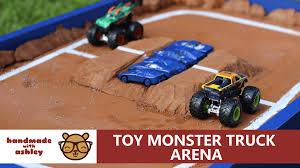 100 Monster Jam Toy Truck Videos Build A Arena Handmade With Ashley