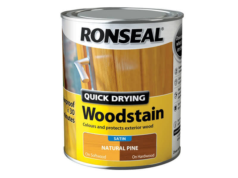 Ronseal - Woodstain Quick Dry Satin Natural Pine 750ml