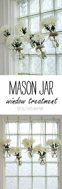 Mason Jar Window Treatment Kitchen WindowsCurtains