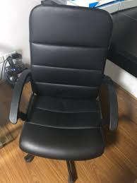 IKEA LEATHER OFFICE CHAIR, Home & Furniture On Carousell Worksmart Bonded Leather Office Chair Black Parma High Back Executive Cheap Blackbrown Wipe Woodstock Fniture Richmond Faux Desk Chairs Hunters Big Reuse Nadia Chesterfield Brisbane Devlin Lounges Skyline Luxury Chair Amazoncom Ofm Essentials Series Ergonomic Slope West Elm Australia Management Eames Replica Interior John Lewis Partners Warner At Tc Montana Ch0240