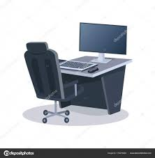 Desk With Computer And Chair Vector Illustration — Stock ... The 10 Best Gaming Chairs Of 2019 Eureka Ergonomic Height Adjustable High Back Computer Chair Best Pc Gaming Chair 2018 Aop3d Best Tech And Gadgets Grandmaster White Awesome Setups Gtforce Pro Fx Recling Sports Racing Office Desk Car Faux Leather Red Merax Design 217lx 217w X524h Blue Acers Predator Thronos Is A Cockpit Masquerading As Would My Ghetto Setup Be Considered Even Budget Cheap For Obutto Workstation Cockpits