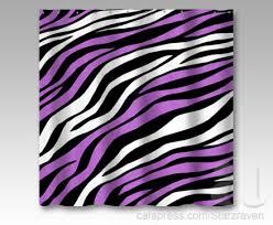 zebra print mix purple shower curtain purple zebra bathroom