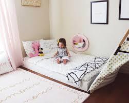 Montessori Floor bed Toddler bed Big kid room ideas Kids decor