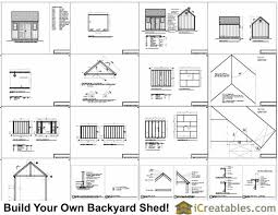 12x12 Shed Plans Pdf by 10x12 Shed Plans With Garage Door How To Build A Tool Shed Floor