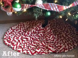 Hobby Lobby Burlap Christmas Tree Skirt by Making It In The Mitten Diy Ruffled Tree Skirt