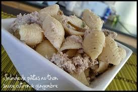 salade de pâtes au thon sauce citron et gingembre mes petits
