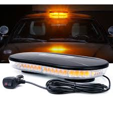 100 Strobe Light For Trucks 30w COB LED Amber Rooftop With Magnetic Base