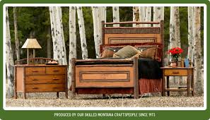 rustic log furniture from montana for 35 years