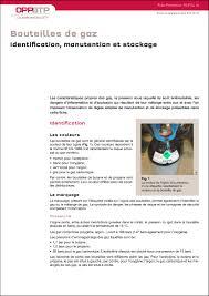 bouteille de gaz consigne bouteilles de gaz identification manutention et stockage
