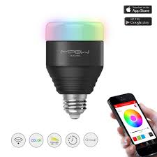 mipow smart led rgb light bulb dimmable color changing