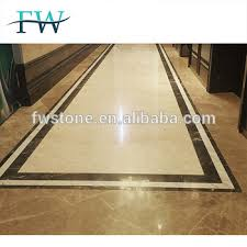 Chinese White Marble Flooring Border Designs For Projects