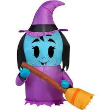 Gemmy Inflatables Halloween by Gemmy Airblown Inflatable 3 5 U0027 X 2 5 U0027 Happy Witch Halloween