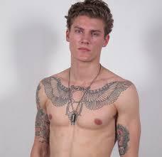 Cool Chest Tattoo Man Mikkel Jensen