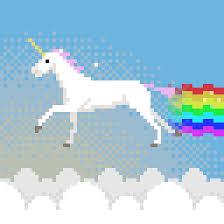 Gif Unicorn Rainbow Clouds