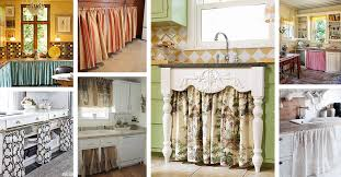 Kitchen Drapery Ideas 24 Best Kitchen Cabinet Curtain Ideas And Designs For 2021
