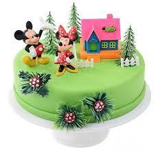 kit décoration pour gâteau anniversaire mickey minnie pas cher