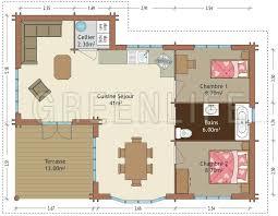 plan de maison 2 chambres maison 70m2 2 chambres