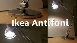 Tensor Halogen Desk Lamp Bulb by Ikea Antifoni Desk Lamp Youtube