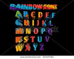 Colorful Funny 3d Font For Cartoon Project Child Event Poster Parties Invitations Small