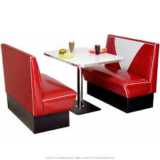100 Red Formica Table And Chairs Diner Booth Set VBack Design At Retro Planet