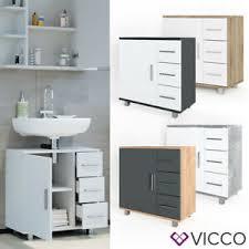 vicco waschbeckenunterschrank ilias weiß waschtisch