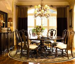 Dining Room Table Centerpiece Decor by Dining Room Furniture Beautiful Brown Round Dining Room Table