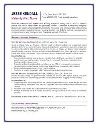 Sample Rn Resume Charge Nurse Nursing Cover Letter Examples Maternity Ward