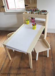 Building A Simple Wood Desk by Ana White Build A Kids Art Center Free And Easy Diy Project