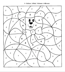 Color By Number Coloring Pages For Kids Free Red Ribbon Printable Week 2012 Sheets Medium