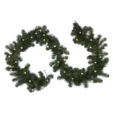 Meijer Home Wall Decor by December Home Pre Lit Scotch Pine Christmas Garland 9 Ft Meijer Com