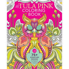 This Is What Tula Pinks Designs Are Known For And Now You Can Add Your Own Touch To Her Distinct Style In The Pink Coloring Book